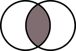 Venn diagram vesica piscis aka pisces readings by rahbinah this ancient symbol is the shape formed by two interlocking circles and is part of sacred geometry piscis refers to the fact that the middle section ccuart Images