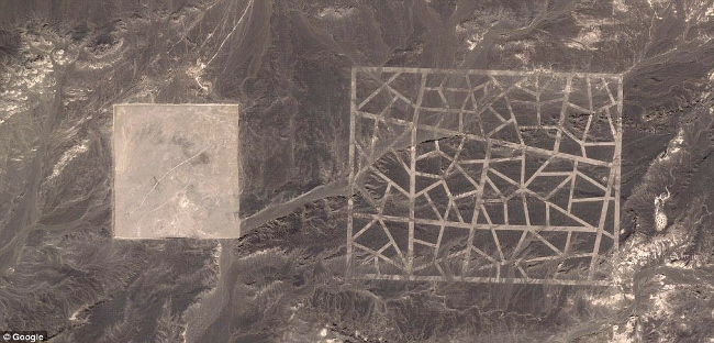 Google Map Mystery of Giant Lines Spotted by Satellite in Gobi Desert