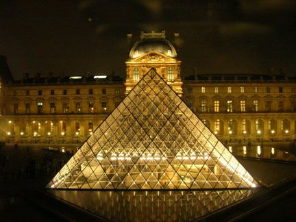 is louvre museum pyramid linked to 666 the number of the