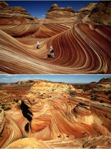 The Wave. Between Arizona and Utah – USA
