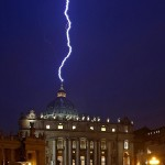A signal from above? Lightning hits St. Peter's Hours after Pope Benedict Announces his Resignation