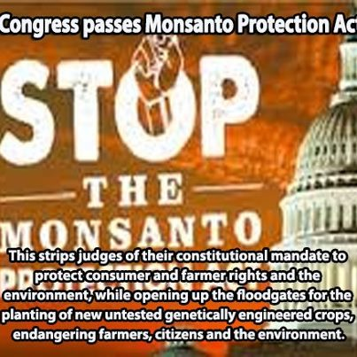 Monsanto Protection Act Proves Corporations More Powerful Than US Government