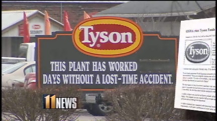 Possible Cancer Cluster at Tyson Plant: USDA Poultry Inspector Speaks Out Against Hazardous Chemical Use‏