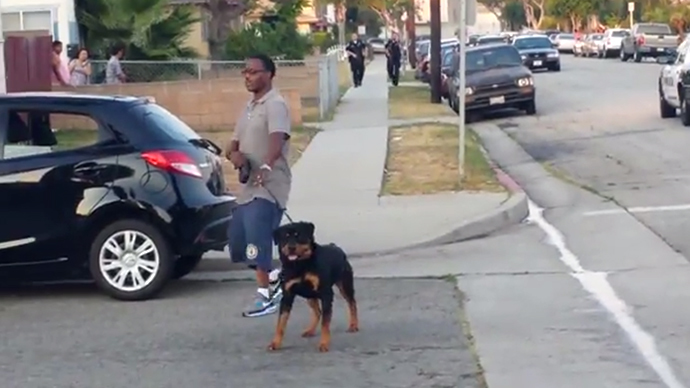Cops arrest California man for Filming them and then Kill his Dog