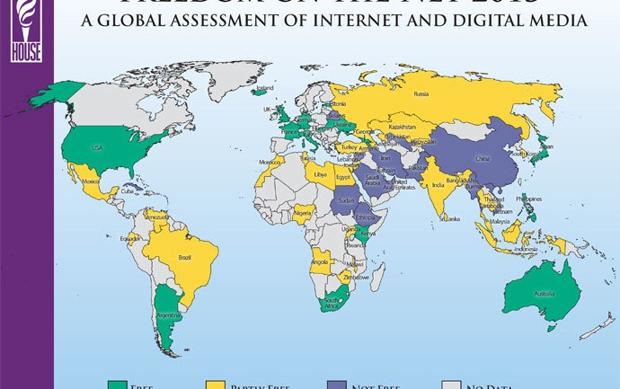 Internet Freedom on Decline Worldwide as Governments Tighten Grip