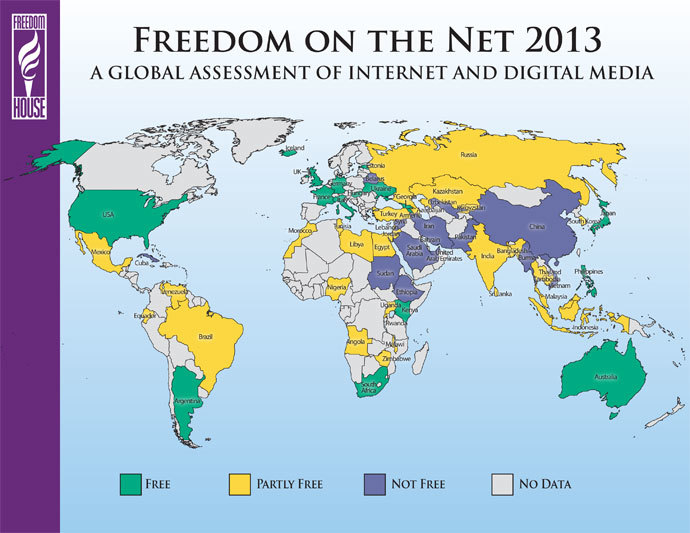 Internet Freedom on Decline Worldwide as Governments Tighten Grip