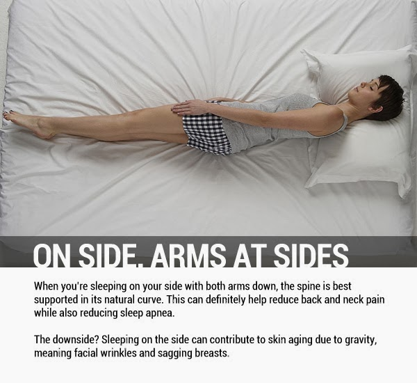 On Side, Arms at Sides - 8 Sleeping Positions and Their Effects On Health