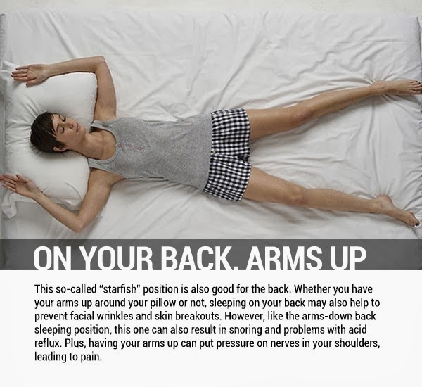 On your Back, Arms Up - 8 Sleeping Positions and Their Effects On Health