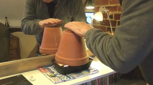 How to Easily Heat Your Home Using Flower Pots & Tea Lights