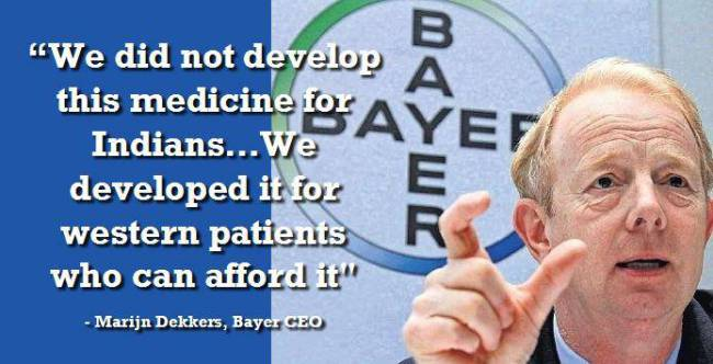 Bayer's CEO: New Cancer Drugs Are Only For Western Patients,  New Cancer Medicine for Rich People, Not Indians
