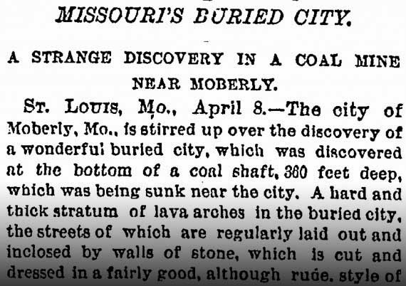 New York Times - Missouri's Burried City
