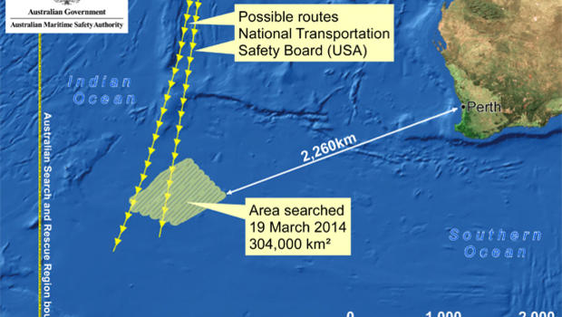 Malaysia Airlines Flight 370 Now Clearly a Government Cover-up: All Evidence Contradicts Official Story Australia-flight370-search-map