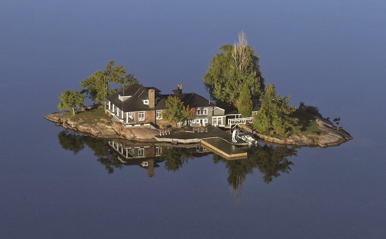They call it 1000 islands just take a look what is there Small islands around the world