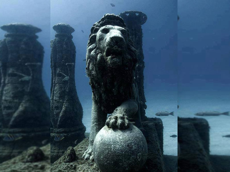 Five Mind Blowing Underwater Cities Cleopatras-underwater-palace-Egypt-.