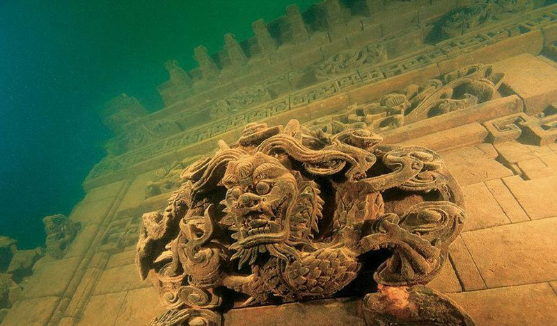 Five Mind Blowing Underwater Cities Lion-City-of-Quiandao-Lake-China