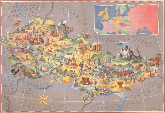 hand-painted-map-of-czechoslovakia-570x392