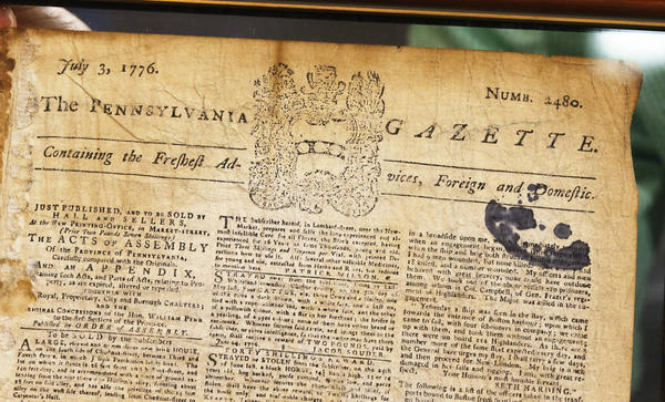 Benjamin Franklin-Owned Newspaper Unearthed at Auction Reveals Stunningly Simple Text of Historic Moment