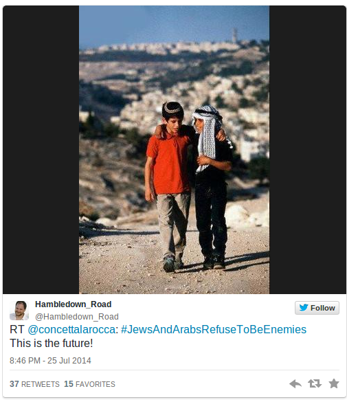 Viral News News And Photos: Jews And Arabs Refuse To Be Enemies: Social Media Campaign