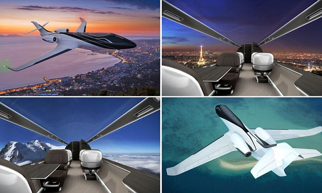 Windowless Planes Offer Passengers Spectacular Panoramic Views