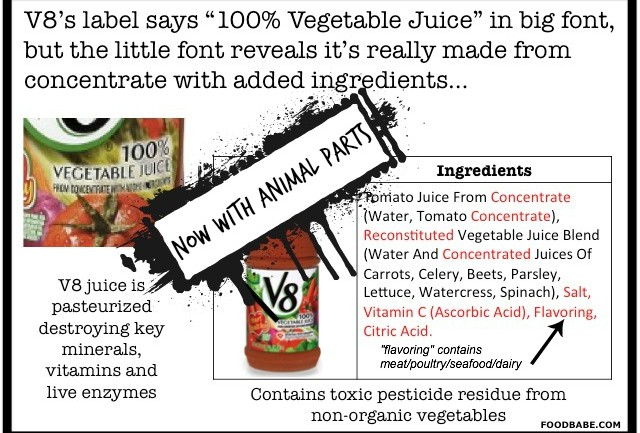V8 Juice Might Not Really Be Vegan… Animal Parts in Your V8