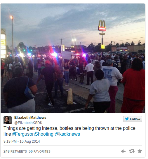 Total Breakdown In Less Than 24 Hours  Images and Videos of Missouri Riots and Looting