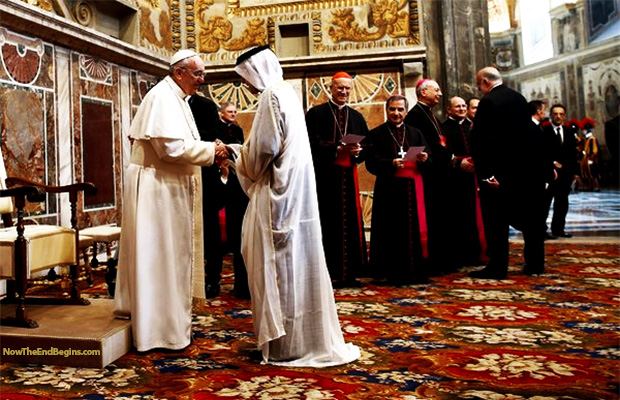 HISTORIC FIRST EVER ISLAMIC PRAYERS AT VATICAN SIGNALS START OF ONE WORLD RELIGION