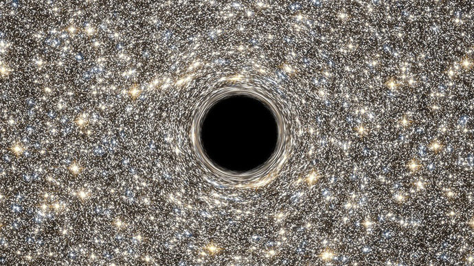 NASA Finds 'Monster' Black Hole in Tiny Galaxy