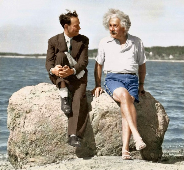 Einstein at the beach, 1939