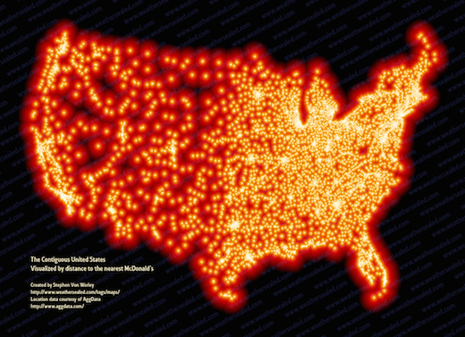 4 Maps That Sum Up Food In America‏