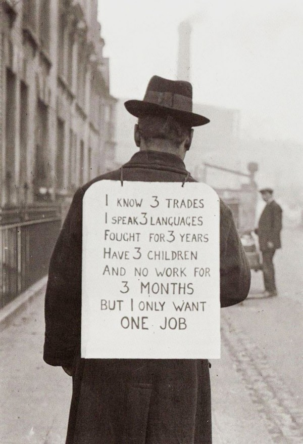 Job hunting in 1930's