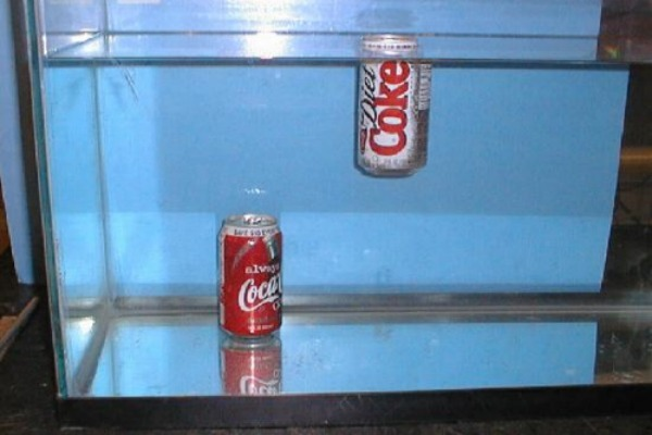 Why Do Cans of Diet Coke Float But Cans of Regular Coke Don't?‏