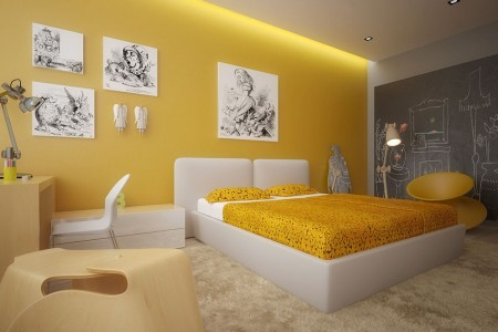 modern-yellow-bedroom