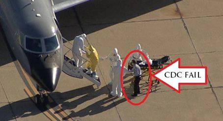 Viewers Quickly Notice Something That 'Makes No Sense' in Raw Video of Officials Loading Dallas Ebola Patient Onto Plane