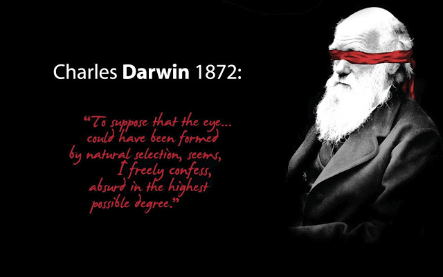 Charles Darwin was wrong eye quote
