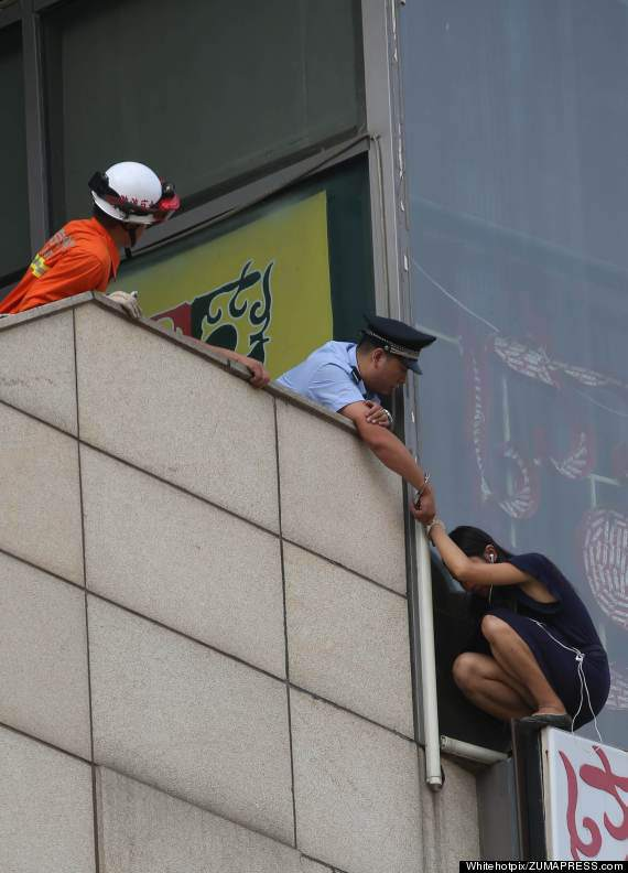 A Woman Saved From Suicide In Beijing