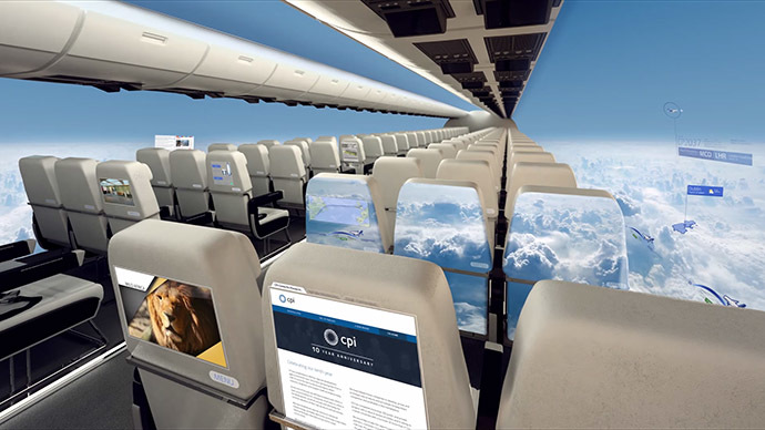 New Windowless Plane Lets You Have Your Head in The Clouds