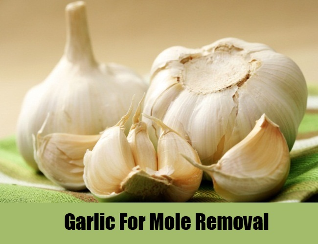 Garlic-For-Mole-Removal