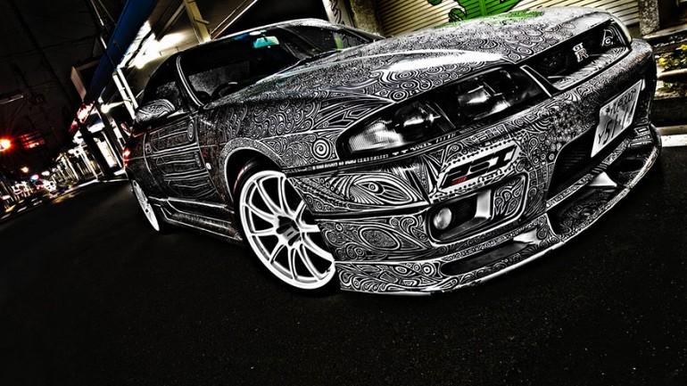 Car Art Sharpie Pen Drawing