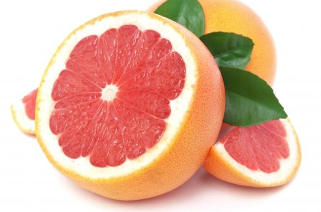 grapefruit white background