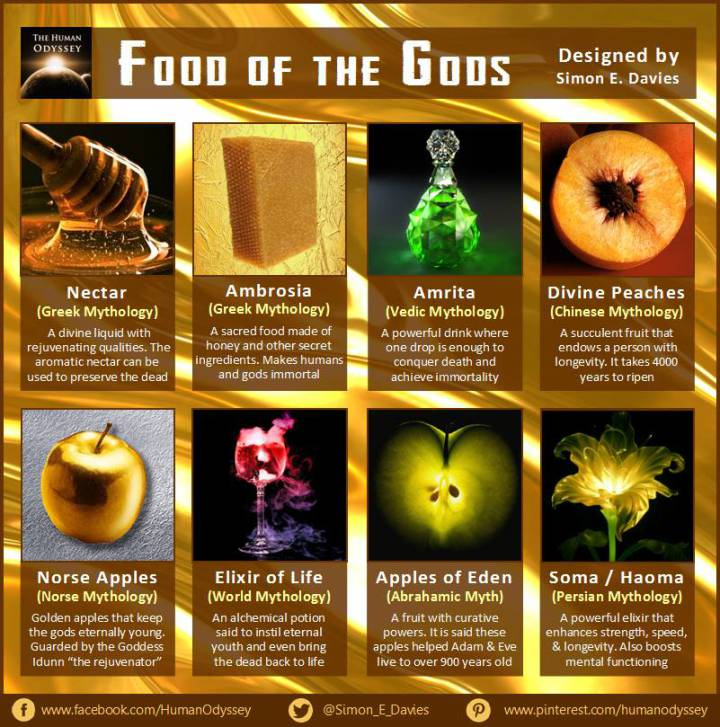 gods food greek nectar ancient mythology drink elixir code mythological tv planetary grid worldtruth recipe universe otherworldly qualities divine energy