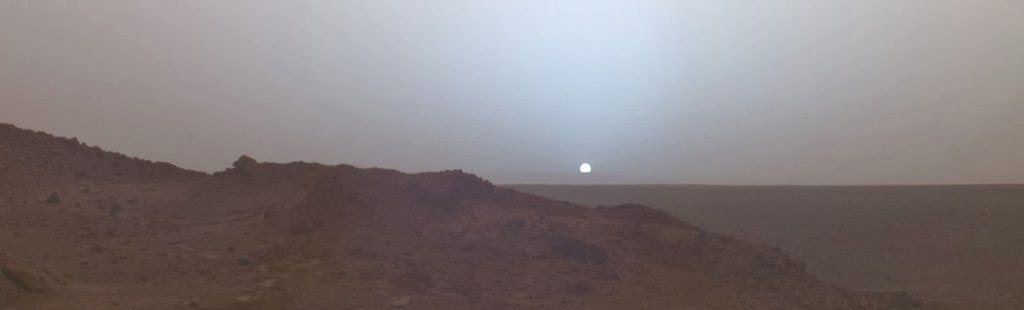 Sunset on Mars, taken in 2005 by the Spirit rover