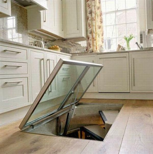 This Man Put A Secret Window On His Kitchen Floor. The Reason GENIUS! (1)