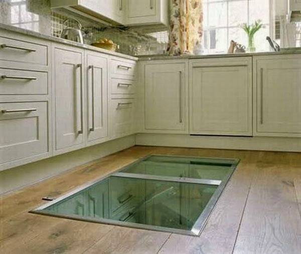 This Man Put A Secret Window On His Kitchen Floor. The Reason GENIUS!