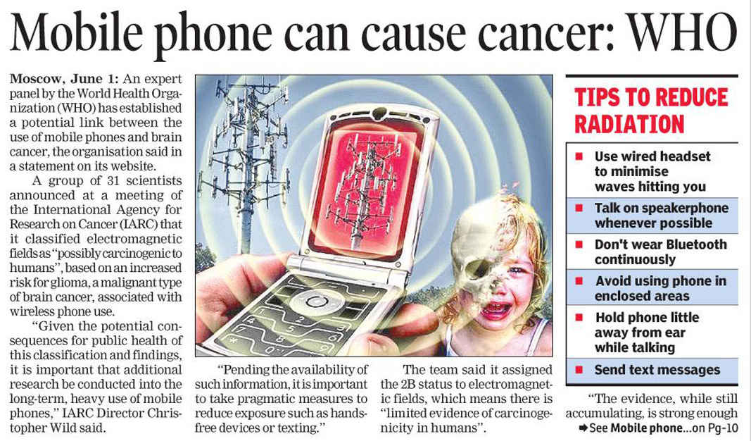 cell phones cancer This possible carcinogen isn't going to give you cancer  why would the cdph  want to warn against cell phone radiation if it's not hazardous.