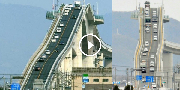 The SCARIEST Looking BRIDGE Is In Japan! Could You Handle Driving Over It?