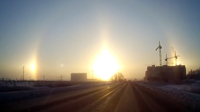 Three Suns in The Sky: Chelyabinsk Witnesses Rare Halo Effect