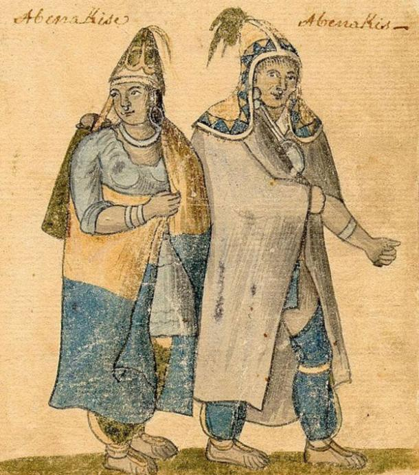 Abenaki-couple-wearing-traditional-dress