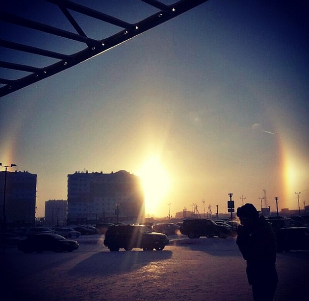Three Suns in the sky Chelyabinsk witnesses rare halo effect PHOTOS VIDEO — RT News