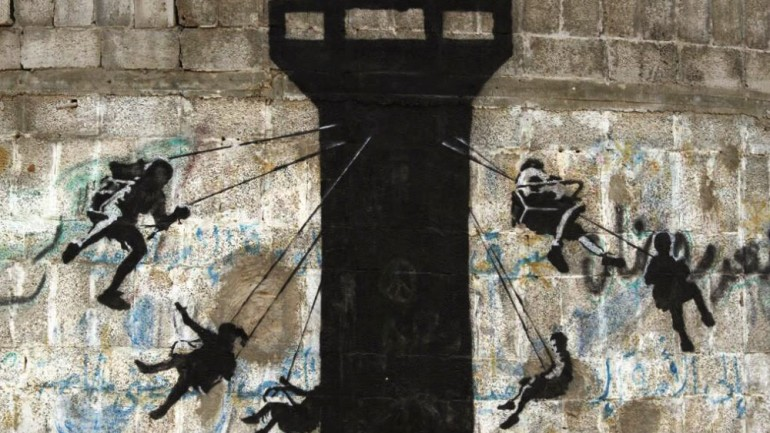 Banksy Unveils a New Series of Pieces in Gaza
