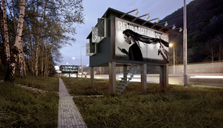 Revolutionary Designer Uses Billboards To Give Homes To Homeless